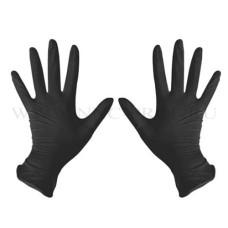 Перчатки Нитрил (S) 100шт/уп черные