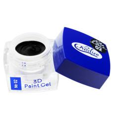 Гель-краска 3D Gel Nailico №02, 4г